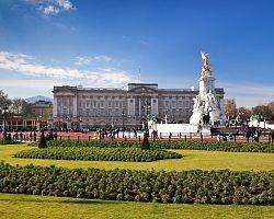 Pohled na Buckingham Palace