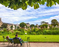 Lucemburské zahrady jsou ideální na odpočinek