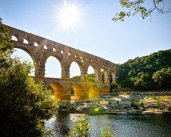 Jedinečný akvadukt Pont du Gard