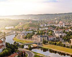 Pohled na město Vilnius