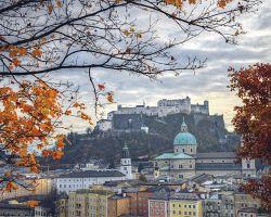 Pohled na Hohensalzburg