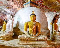 Sochy Buddhů v Dambulle