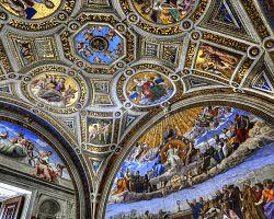 Nádherné fresky Vatikánských muzeí