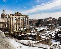 Zimní atmosféra Fora Romana