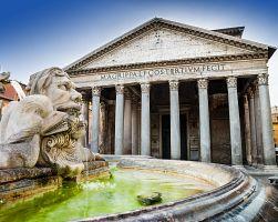 Úchvatný antický chrám Pantheon v Římě