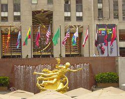 Pozlacený Prométheus u Rockefellerova centra
