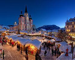 Pohádkově zasněžená bazilika Mariazell