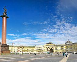 Palácové náměstí s Alexandrovým sloupem