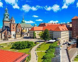 Pohled na hrad Wawel