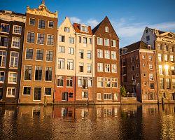 Typická architektura domů v Amsterdamu