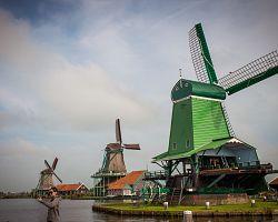 Kouzelné větrné mlýny v Zaanse Schans