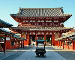 Velkolepý chrám Sensódži v Tokiu