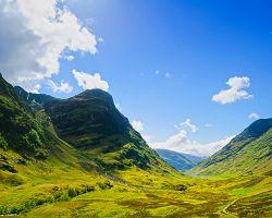 Krásy skotské přírody - údolí Glen Coe