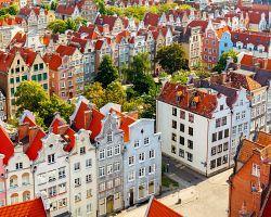 Městské domy jsou charakteristické nejen pro Gdaňsk