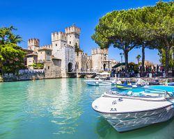 Lago di Garda a výhled na pevnost Scaglierů