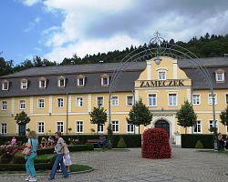 Sanatorium Zámeček v lázeňském městečku Kudowa-Zdrój