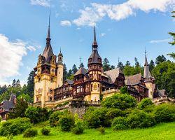 Známý zámek Peleš v Transylvánii
