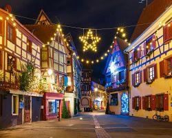 Vánoční výzdoba města Colmar