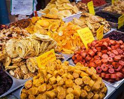 Speciality jeruzalémského tržiště Mahane Yehuda