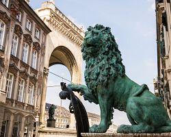 Socha bavorského lva v Mnichově