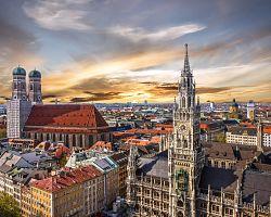 Panoramatický pohled na město Mnichov