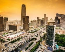 Moderní čtvrť v Pekingu