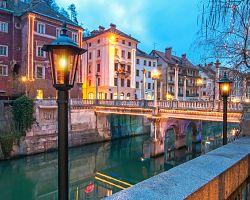 Lublaň má nádherné historické centrum