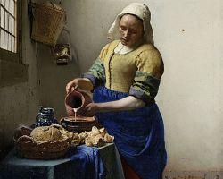 Vermeerova Mlékařka patří k jedněm z nejdůležitějších děl nizozemského malířství