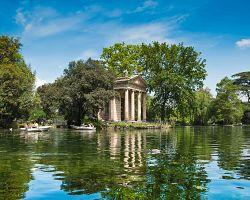 Nádherný park Villa Borghese