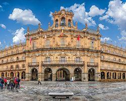 Krásné náměstí Plaza Mayor v Salamance