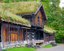 Historický dřevěný dům ve skanzenu