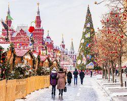 Nádherně vyzdobené ulice Moskvy