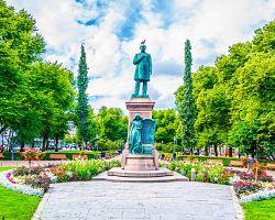 Esplanadi park se sochou J.L. Runeberga