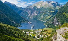 Ilustrace Skandinávie