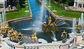 Kaskádová fontána v Petrodvorcích