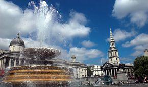 Trafalgar Square s fontánou