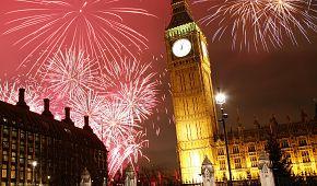Silvestrovské oslavy v Londýně