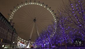 Svátečně oděné London Eye