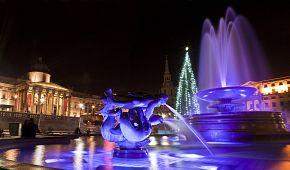 Vánoční hra světel a barev Trafalgarského náměstí