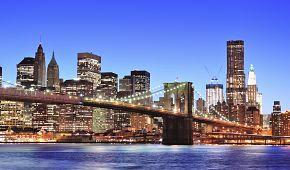 Brooklynský most ve večerním hávu
