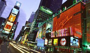 Times Square v záři světel