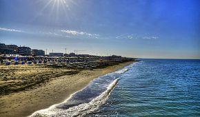 Pláž Lido di Ostia v Itálii