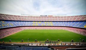 Slavný fotbalový stadion Camp Nou