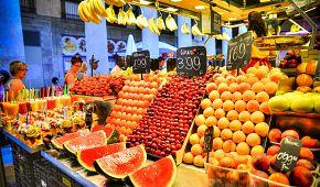 Proslulá tržnice La Boqueria