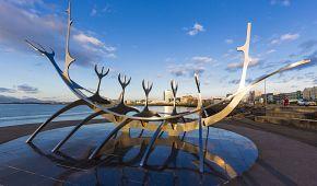 Reykjavík - ocelová skulptura Sólfar