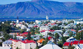Panoramatický pohled na Reykjavík