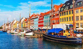 Dánská pohoda nábřeží Nyhavn
