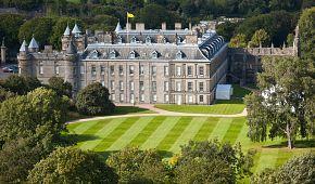 Holyrood Palace z ptačí perspektivy