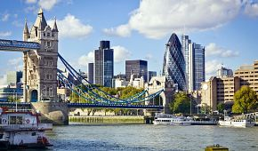 Pohled na řeku Temži v Londýně