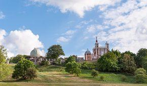 Pohled na královskou observatoř Greenwich